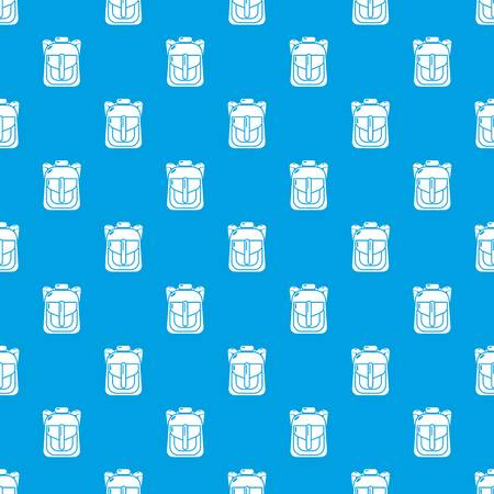 Backpack element pattern vector seamless blue repeat for any use