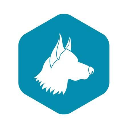 Shepherd dog icon in simple style isolated on white background. Animals symbol