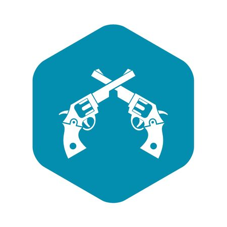 Revolvers icon, simple style