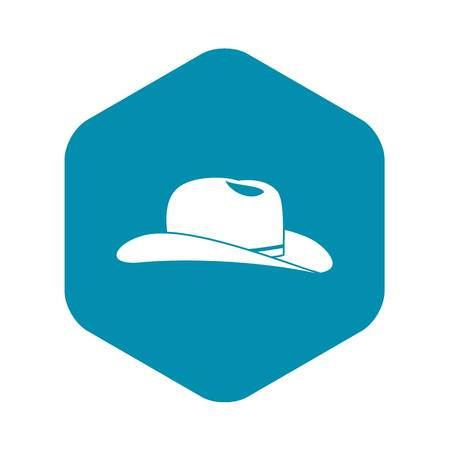 Cowboy hat icon in simple style isolated on white background. Headdress symbol