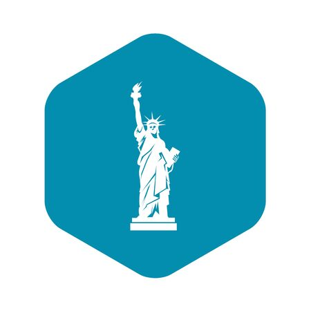 Statue of liberty icon, simple style