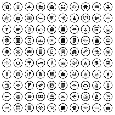 100 sale icons set in simple style for any design vector illustration Иллюстрация