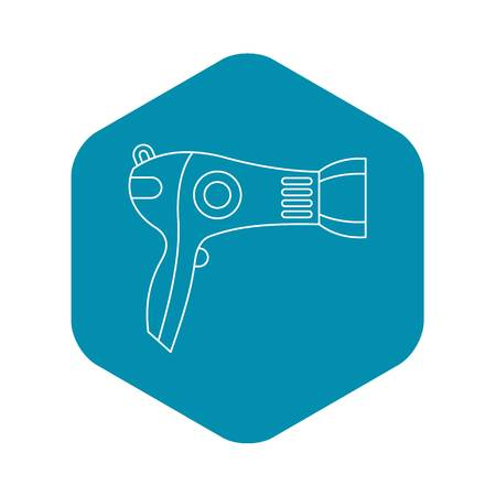 Hairdryer icon. Outline illustration of hairdryer vector icon for web Illustration