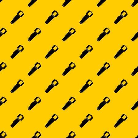 Hand flashlight pattern vector