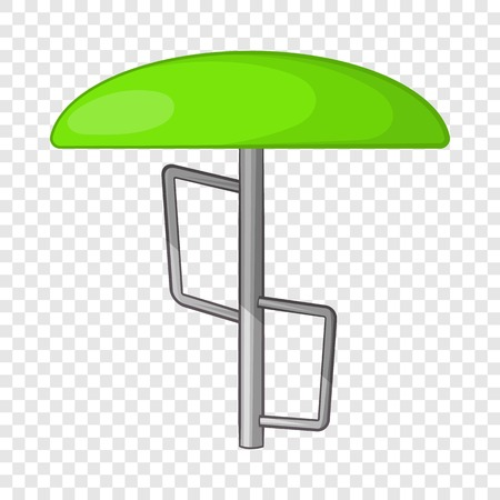 Children bar fungus icon, cartoon style Illustration
