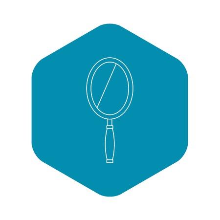 Mirror icon. Outline illustration of mirror vector icon for web Standard-Bild - 124714834