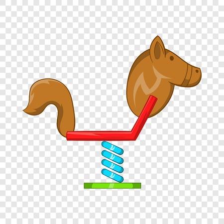 Horse swing icon, cartoon style Illustration