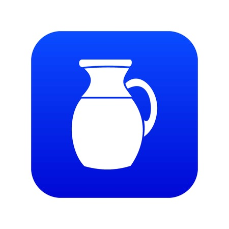 Jug of milk icon digital blue for any design isolated on white vector illustration Ilustrace