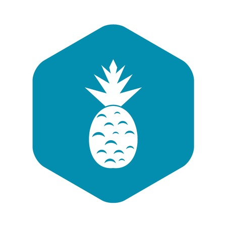 Pineapple icon in simple style isolated on white background