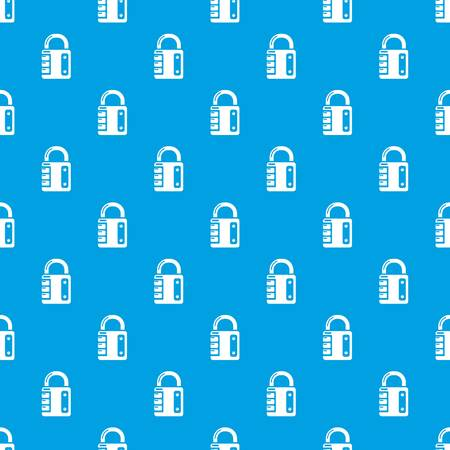 Lock system pattern vector seamless blue repeat for any use