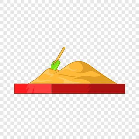 Children sandpit icon, cartoon style