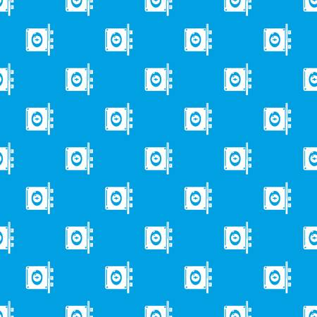Lock interroom pattern vector seamless blue repeat for any use