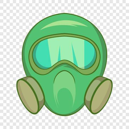 Gas mask icon in cartoon style isolated on background for any web design