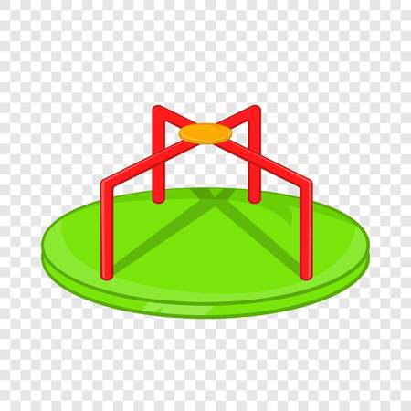 Round teeter icon in cartoon style isolated on background for any web design Illustration