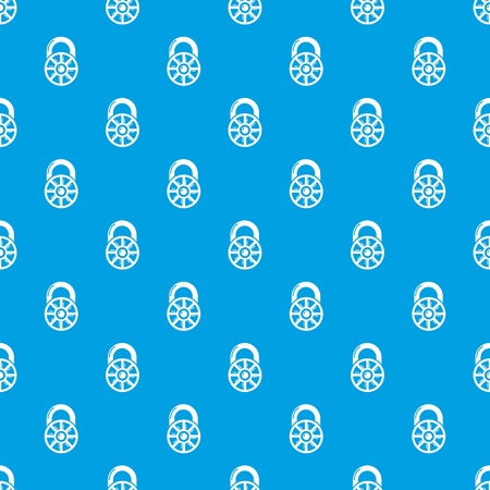 Lock modern pattern vector seamless blue repeat for any use