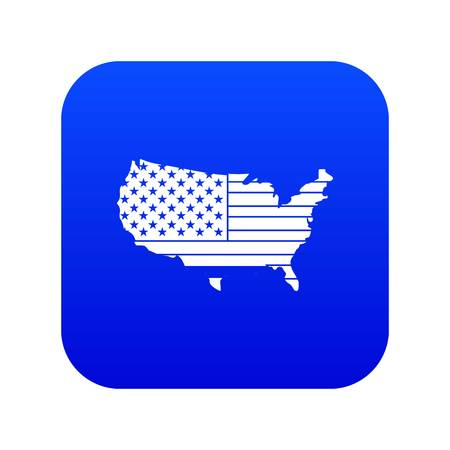 American map icon digital blue for any design isolated on white vector illustration  イラスト・ベクター素材