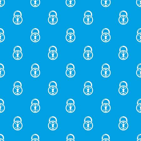 Lock pattern vector seamless blue repeat for any use