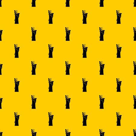 Little candle pattern seamless vector repeat geometric yellow for any design