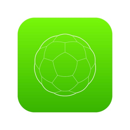 Soccer ball icon in outline style isolated on white background. Game symbol