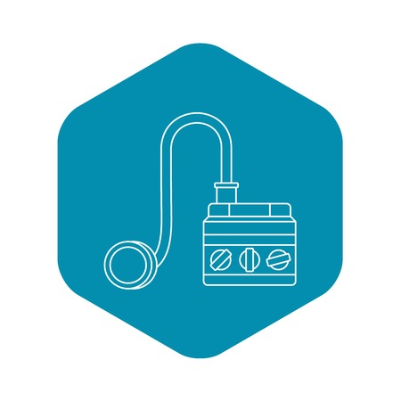 Detonator icon. Outline illustration of detonator vector icon for web Ilustração