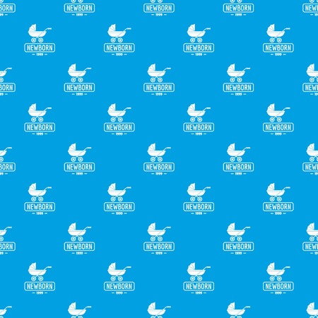 Pram pattern vector seamless blue repeat for any use