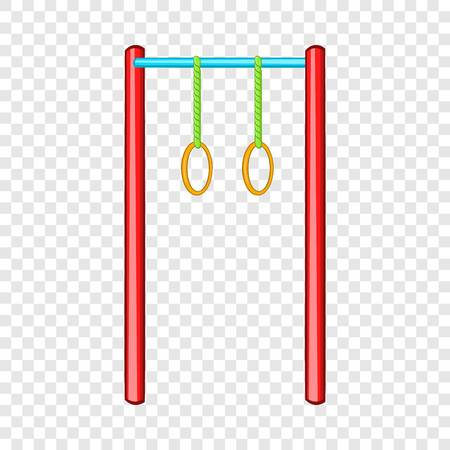 Horizontal bar with rings icon in cartoon style isolated on background for any web design 向量圖像