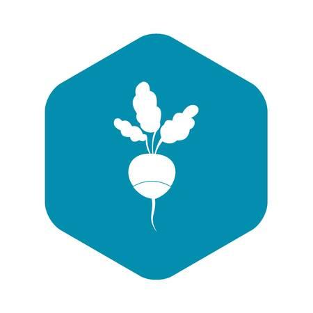 Fresh radish icon in simple style isolated on white background Ilustração