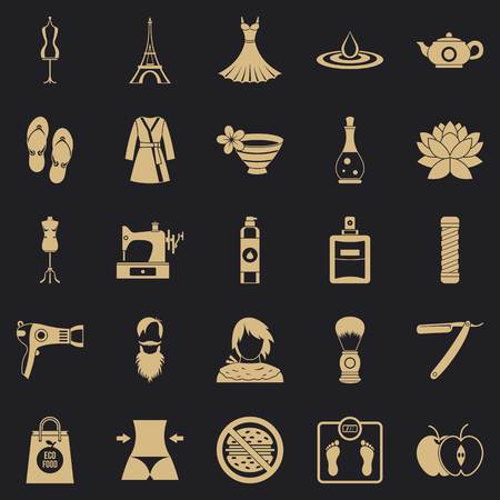 Sewing icons set. Simple set of 25 sewing vector icons for web for any design