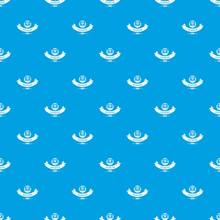 Newborn kid pattern vector seamless blue