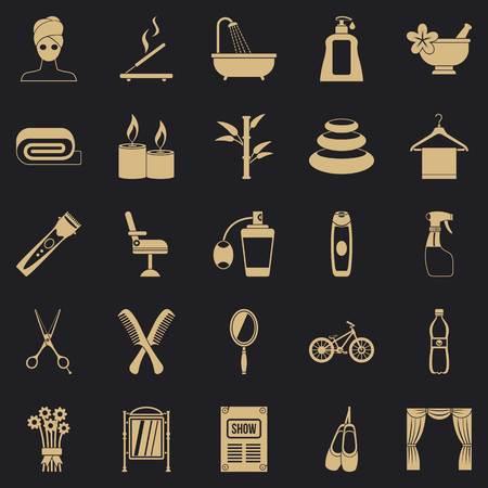 Secular reception icons set. Simple set of 25 secular reception vector icons for web for any design Illusztráció