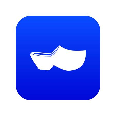 Clogs icon digital blue
