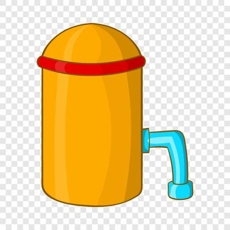 Barrel with tap icon, cartoon style