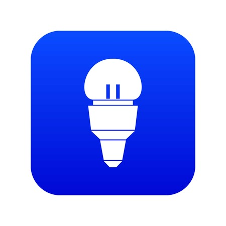 Reflector bulb icon digital blue for any design isolated on white vector illustration