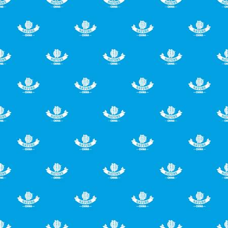 China nature pattern vector seamless blue