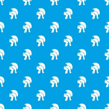 Roman helmet pattern vector seamless blue