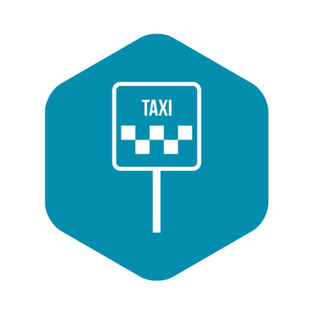Sign taxi icon in simple style isolated on white background Ilustração
