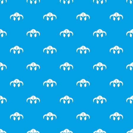 Viking helmet classic pattern vector seamless blue repeat for any use