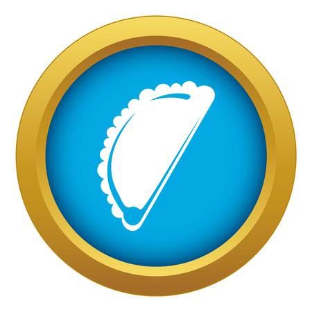 Cheburek icon blue vector isolated Illustration