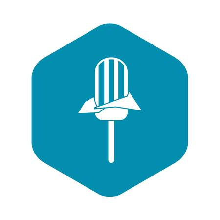 Ice Cream icon in simple style for any design