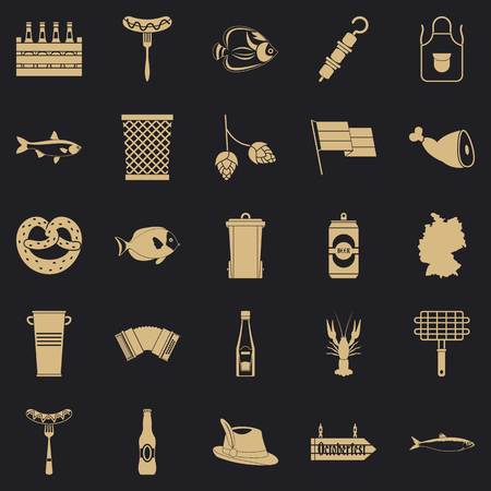 Barbecue icons set. Simple set of 25 barbecue vector icons for web for any design 向量圖像