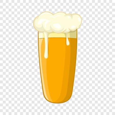 Glass of beer icon, cartoon style Illustration
