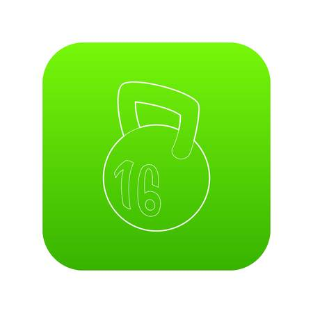 Kettlebell icon in outline style isolated on white background