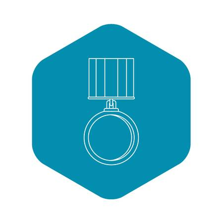 Medal for services icon. Outline illustration of medal for services vector icon for web
