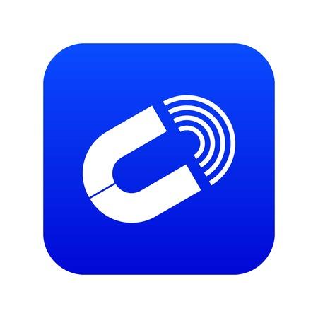 Horseshoe magnet icon digital blue for any design isolated on white vector illustration