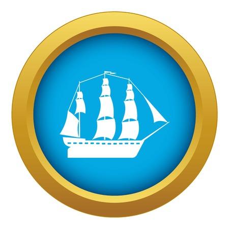 Sailboat icon blue vector isolated Vektoros illusztráció