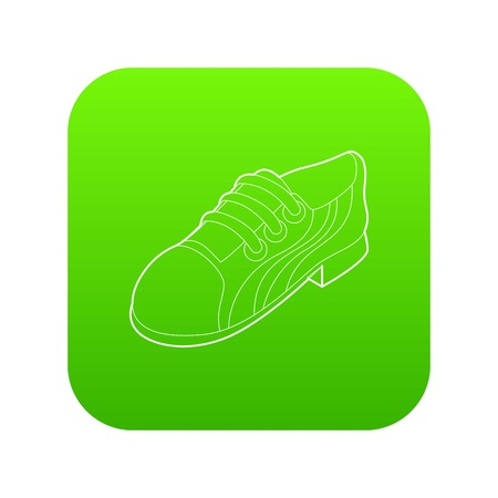 Running shoe icon in outline style isolated on white background