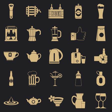 Malt icons set. Simple set of 25 malt vector icons for web for any design