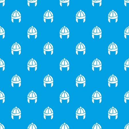 Knight helmet guard pattern vector seamless blue repeat for any use