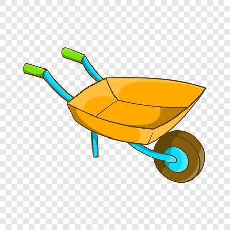 Garden wheelbarrow icon, cartoon style Vecteurs