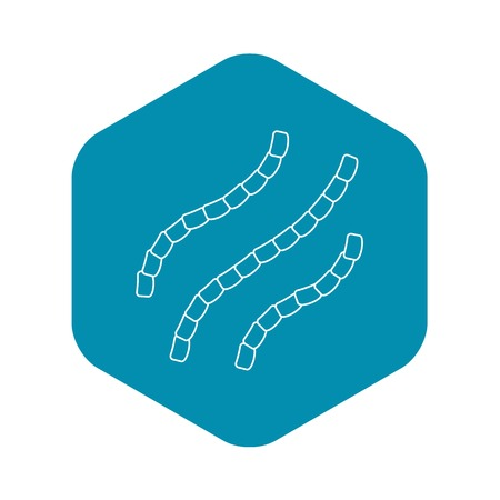 Escherichia coli icon, outline style Vectores